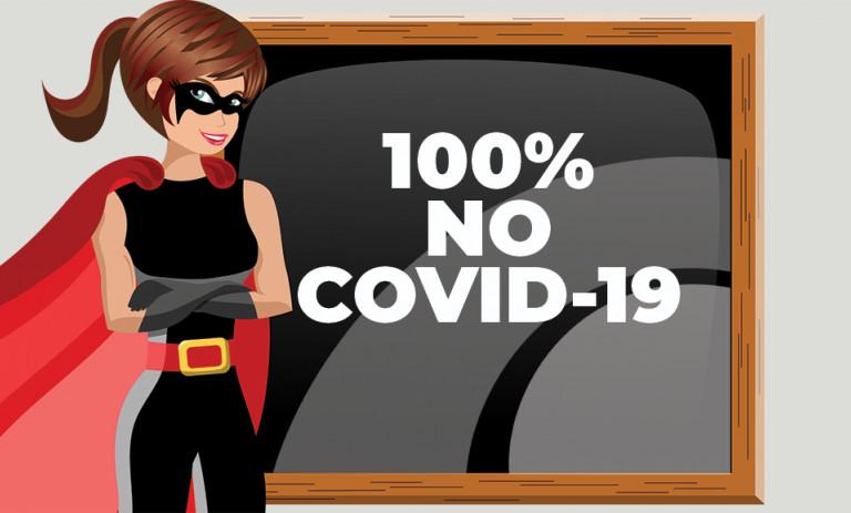 100% NO COVID-19