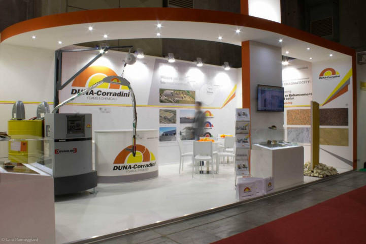DUNA-Corradini exhibits in MARMOMACC