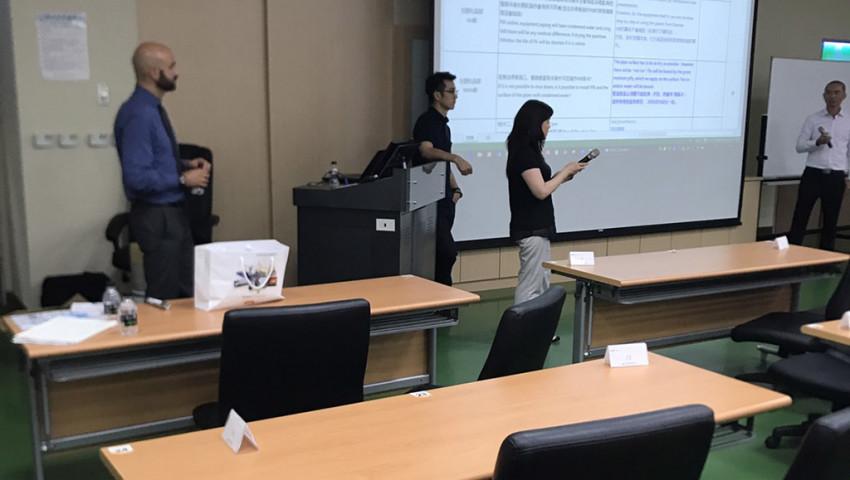 DUNA and Koerner presenting a seminar in Taiwan