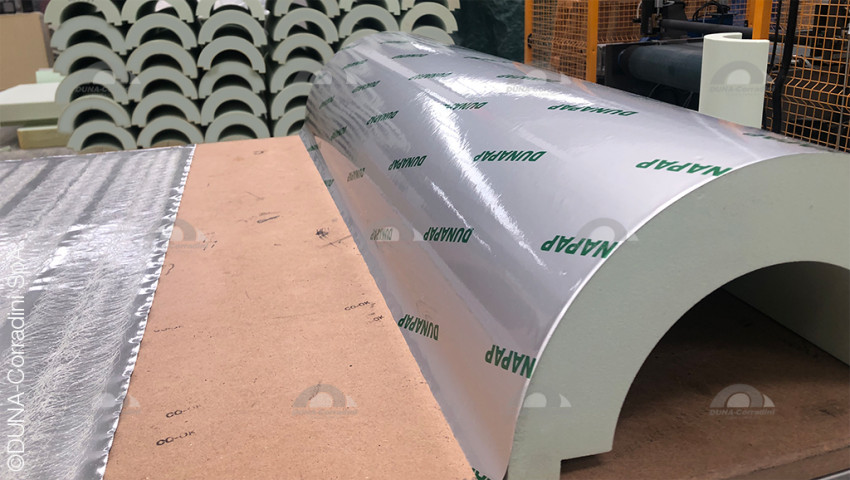 New industrial system for the application of vapor barriers