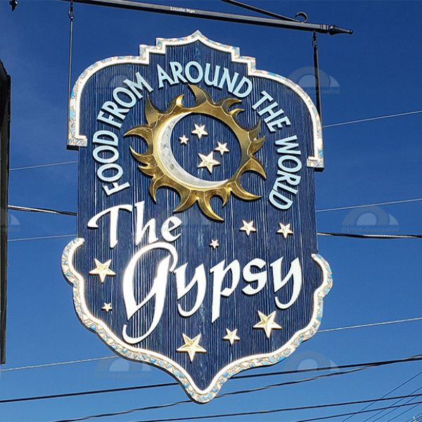 A Modern Sign Rendition for the Gypsy Café in Lincoln, NH